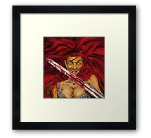 MR BEAN IS RED SONIA ! Framed Print