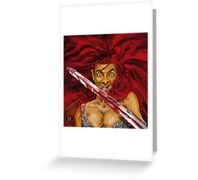 MR BEAN IS RED SONIA ! Greeting Card