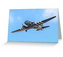 """Douglas Dakota C.3 ZA947 """"Kwicherbischen"""" turning finals Greeting Card"""