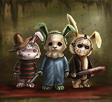 Horror Bunnies by DianaLevinArt
