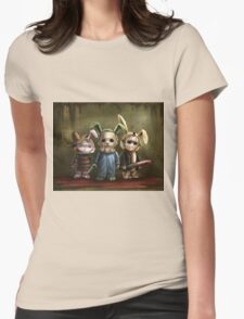 Horror Bunnies Womens Fitted T-Shirt