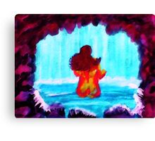 Bathing in the Grotto, watercolor Canvas Print