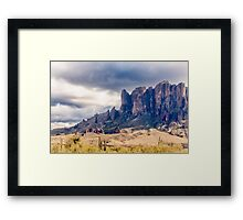 Superstition Mountains Framed Print