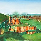 Three Sisters, Blue Mountains by Marta Lett