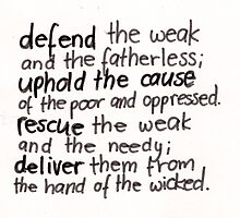 Psalm 82: Defend by countedhairs