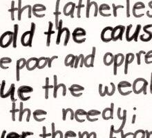 Psalm 82: Defend Sticker