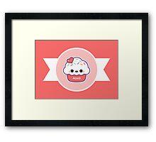 Cute Love Cupcake Framed Print