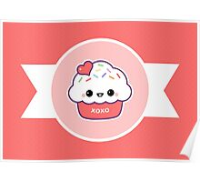 Cute Love Cupcake Poster