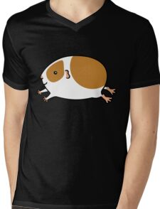 Smooth Leaping Guinea-pig ... Brown and White Mens V-Neck T-Shirt