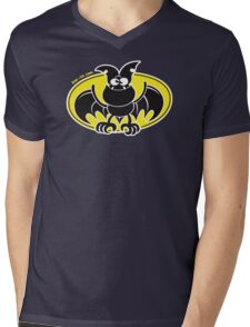 Bad Bat Mens V-Neck T-Shirt