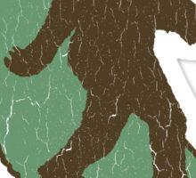 California Bigfoot (vintage distressed look) Sticker
