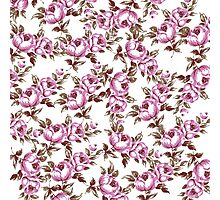 Elegant Vintage Purple Floral Pattern Photographic Print