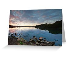 Sunrise, Ferry Meadows. Greeting Card