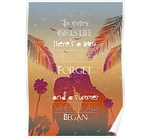Couple in love summer quote Poster