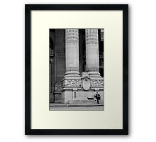 Tired tourists Framed Print