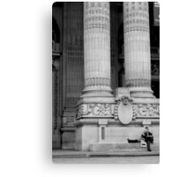 Tired tourists Canvas Print