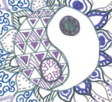 Yin Yang Flower  Sticker