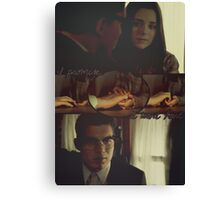 Kate Fuller and Richie Gecko (hands) Canvas Print