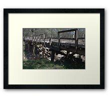 Broken Bridge Framed Print
