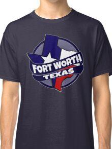 Fort Worth Texas flag burst Classic T-Shirt