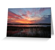 Sunset And Reflections 2 Greeting Card