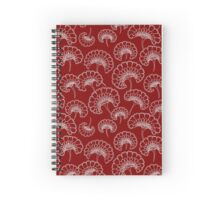 Red and White Marigold Pattern Spiral Notebook