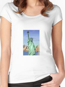 Statue of Liberty  Women's Fitted Scoop T-Shirt