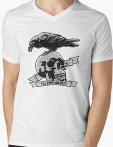 The Expendables (Design Distort Motif) Mens V-Neck T-Shirt