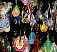 Abstract earrings by Susan Leonard