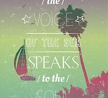 The voice of the sea summer quote by Vinchenko
