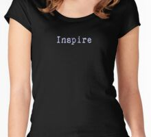 Inspire - Black T-Shirt Quote Women's Fitted Scoop T-Shirt