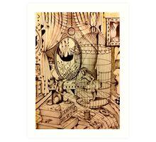 Of Mice And Moon Art Print