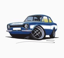 Ford Escort (Mk1) RS2000 Blue by Richard Yeomans