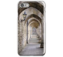Arcade of flying buttresses, Winchester Cathedral, for iPhone iPhone Case/Skin