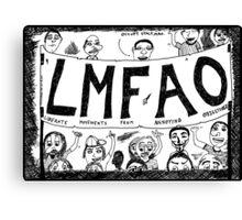 LMFAO Protest Sign Canvas Print