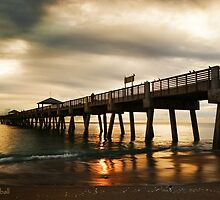 Beach Pier Sunrise by JKKimball