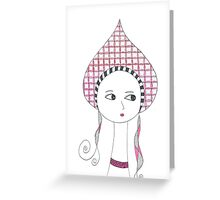 Russian Doll in Pink Greeting Card