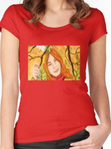 Colours Of Autumn Women's Fitted Scoop T-Shirt