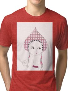 Russian Doll in Pink Tri-blend T-Shirt