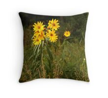 Wild Yellow Flower Throw Pillow