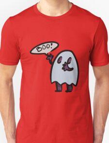Spooky Ghost - Sticker T-Shirt