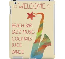 Beach bar jazz poster iPad Case/Skin