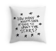 How Many Nights Throw Pillow