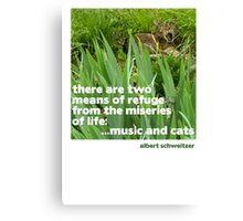 Cat lovers Postcard Canvas Print