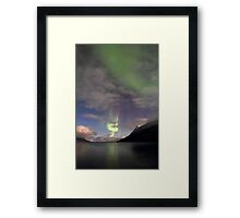 Aurora Borealis & clouds II Framed Print