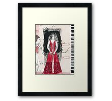 Self-Portrait as a Pianist Framed Print