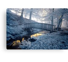Blue over Gold Canvas Print