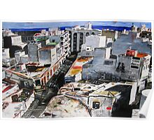 A view of Arrecife (Lanzarote) from a vantage point Poster