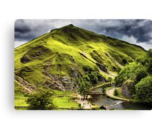 Dovedale, Thorpe Cloud Stepping Stones Canvas Print
