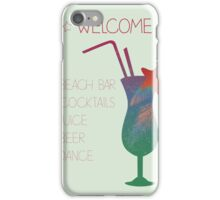 Welcome beach bar iPhone Case/Skin